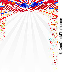 Illustrated american style background.