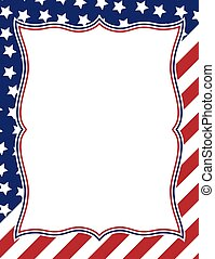 American themed frame design - Vector illustration of...