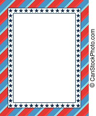 American themed patriotic frame
