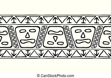 American tribal national drawing.