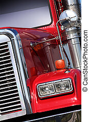 American Truck - The beautiful red US Truck with chrome