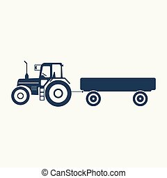 American truck, tractor without a trailer icon.