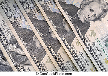 American twenty dollar bills in series - American 20-dollar...