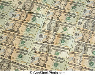 Twenty Dollar Bills - American Twenty Dollar Bills