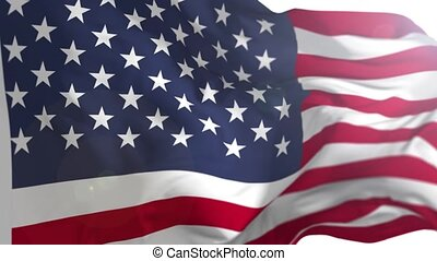 American US Flag Animation - Animation of US flag blowing in...