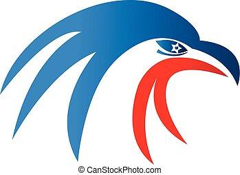 American usa eagle pride, vector icon