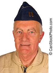 American veteran pilot - Veteran American pilot with blue...