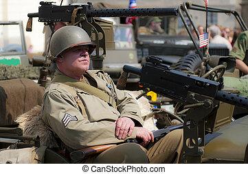 American Veteran - View of an American veteran during the...