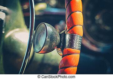 American vintage car interior detail - Interior of old ...