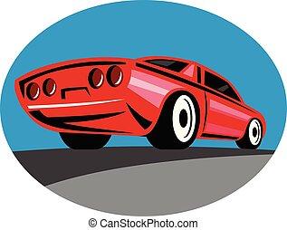 american-vintage-car-rear-oval-retro