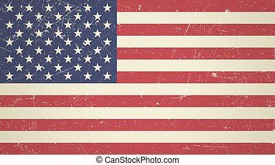 American vintage flag.