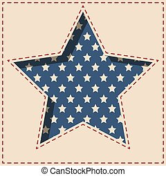 American vintage star background.
