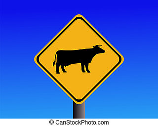 warning cattle sign - American warning cattle sign ...