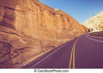 American West Trip. Colorado and Utah Border.