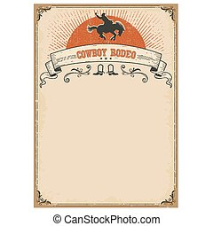 American western background for text. Cowboy rodeo
