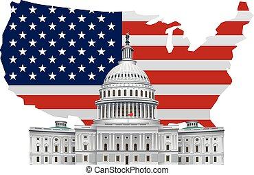 illustration of american landmark white house in washington dc