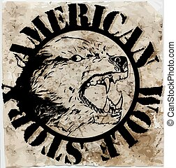 American wolf T shirt graphic design