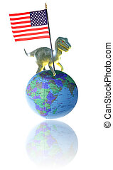 american world domination - american imperialism. world map...