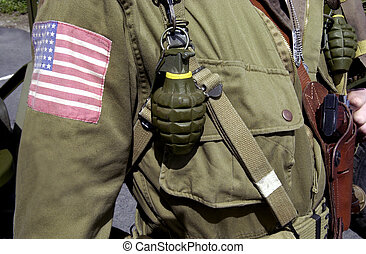 American world war two GI soldier - Details of American...