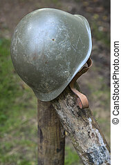 American World War Two Helmet - A discarded American World...