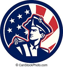 american_revolutionary_strsstrp_BUST-ISO-USA-FLAG - Icon...