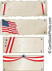 Americana Banners - Vector art in Illustrator 8. Banners...