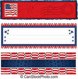 Americana Banners - Vector art in Illustrator 8. Banners for...