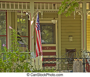 Americana Doorway Porch