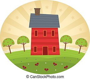 Americana Style Home