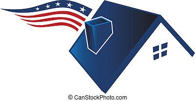 americano, ícone casa