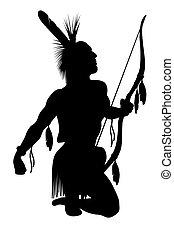 americano índio, soldado