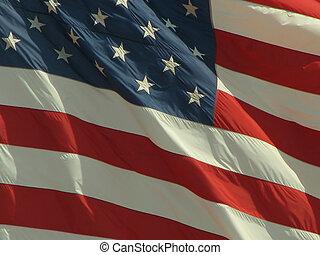 americano, 2, bandiera