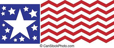 americano, abstratos, bandeira