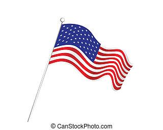 americano, abstratos, bandeira, fundo