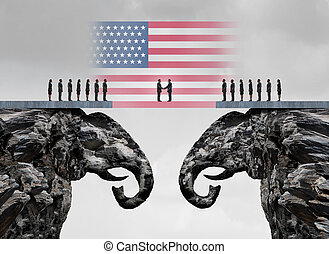 americano, accordo, conservatore