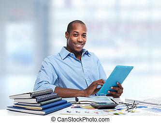 americano africano, businessman.