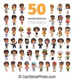 americano africano, caracteres