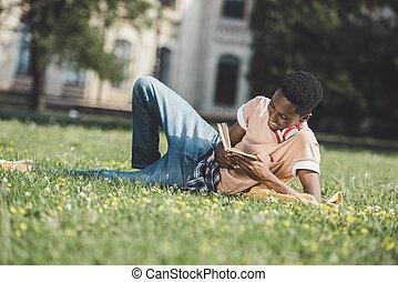 americano africano, estudante