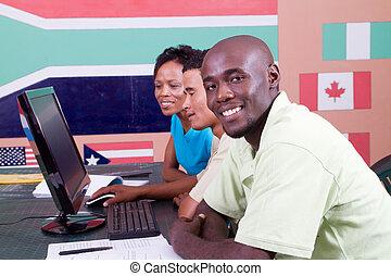 americano africano, estudantes