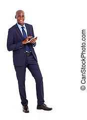 americano africano, incorporado, trabalhador