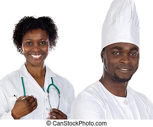 americano africano, lavorante