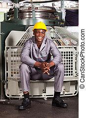 americano africano, lavoratore tessile