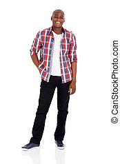 americano, afro, homem jovem