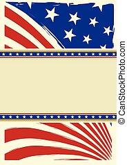 americano, agradável, fundo, bandeira