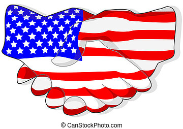 americano, aperto mão