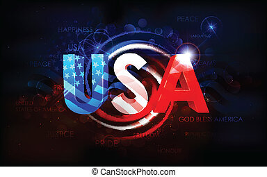 americano, astratto, bandiera, fondo