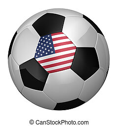 americano, bola futebol