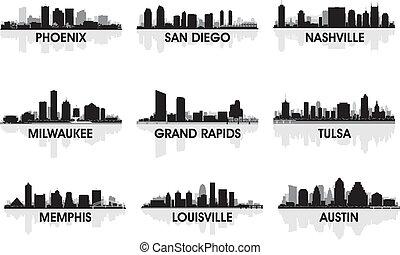 americano, cidades