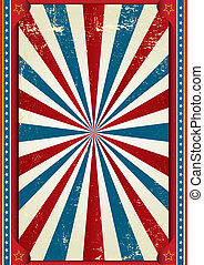 americano, circo, grunge, quadro