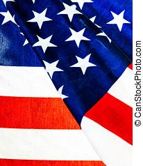 americano, closeup, bandeira, extremo